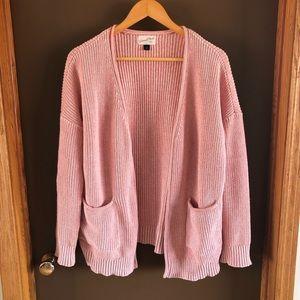 Universal Thread chunky knit pink cardigan